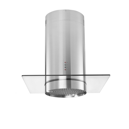 Lamona Stainless Steel cylinder island extractor with 70cm glass