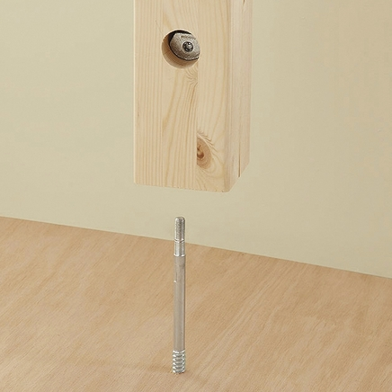 Newel post fastener