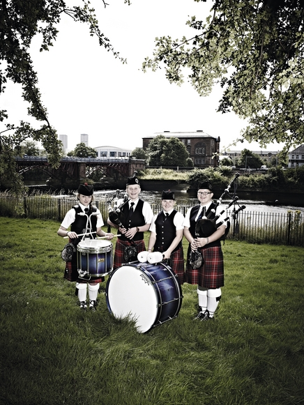 Coalburn IOR pipe band at the world pipe band championships, Glasgow