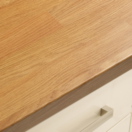 Bullnose Matt Laminate Oak Block Effect Worktop 616mm ...