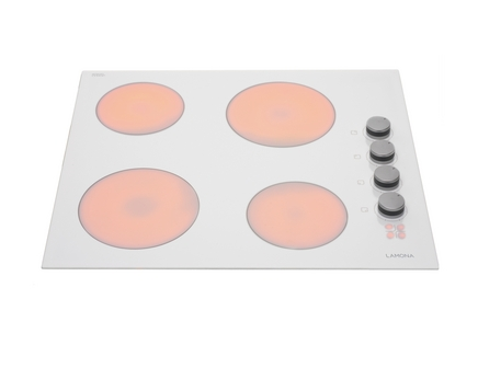 Lamona side control White ceramic hob