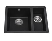 Lamona Black granite composite inset/undermount 1.5 bowl sink