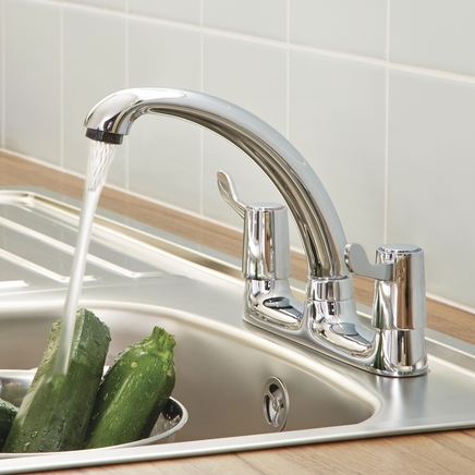 Lamona Chrome lever deck mixer tap