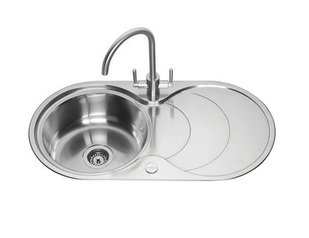 lamona round bowl sink with drainer. Interior Design Ideas. Home Design Ideas