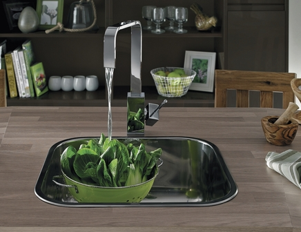 Lamona single square bowl sink