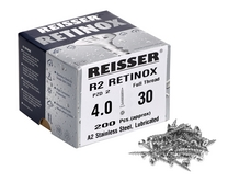 Woodscrews - Reisser R2 Retinox Stainless Steel single thread