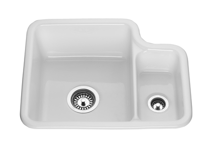Lamona ceramic 1 5 bowl undermount sink ceramic kitchen - Undermount ceramic kitchen sink ...