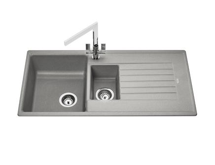 Attirant Lamona Grey Granite Composite 1.5 Bowl Sink
