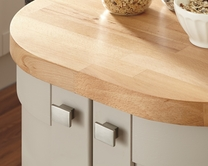 Solid wood block worktops