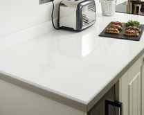 White Glass Effect worktop