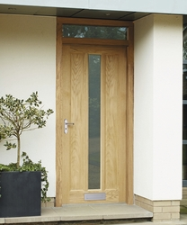 External Worcester Oak glazed door