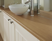 Bullnose matt laminate 28mm worktops with P3 Grade Moisture Resistance