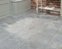 Professional V Groove Grey Slate laminate tiles