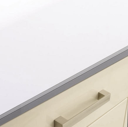White glass effect backboard kitchen worktop backboards howdens joinery - Kitchen backboards ...