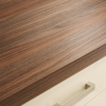 American Pecan Upstand Kitchen Worktop Upstands