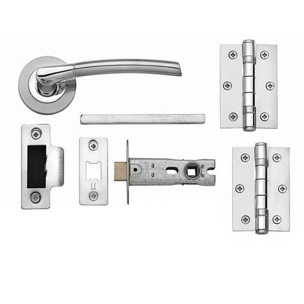 Newington Polished/Satin latch pack