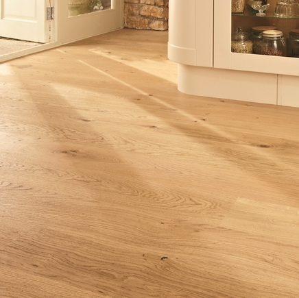 Pre-Finished Fast Fit Oak 180mm flooring