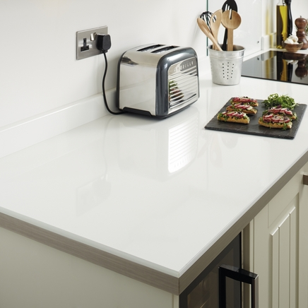 White Kitchen Worktops white glass effect worktop | kitchen worktops | howdens joinery