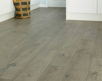 Professional V Groove Dark Grey Oak laminate flooring