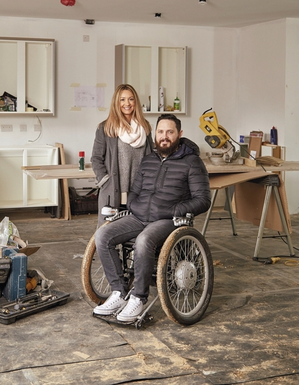 Corporal Phil Eaglesham in new home