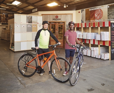 Howdens' St Ives depot cycling for Autism Awareness UK