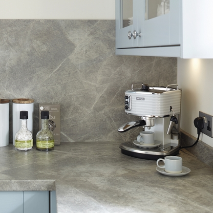 Grey Slate Effect worktop - large scale print