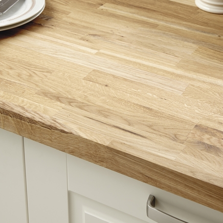 Rustic Oak Block Solid Wood Worktop Kitchen Worktops