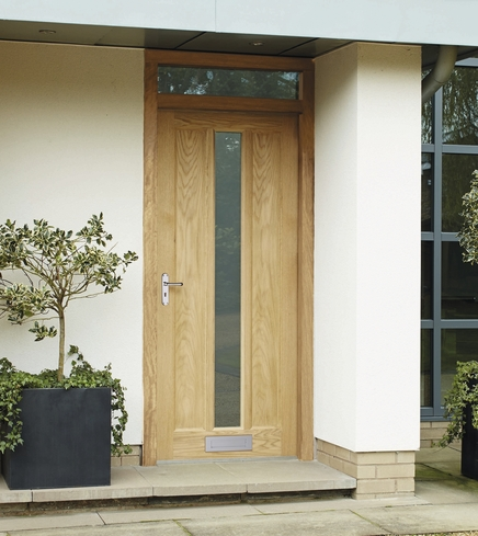 External Worcester Oak Glazed Door Howdens Joinery