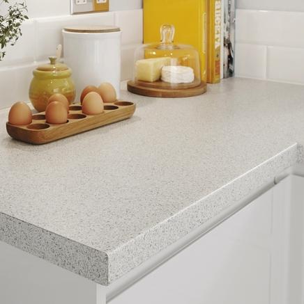 Quartzstone White Smooth Worktop Kitchen Worktops