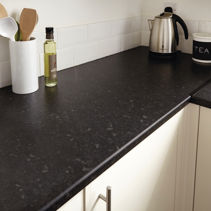 Matt Black Kitchen Worktop