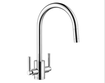 Lamona Chrome Garda swan neck pull-out monobloc tap