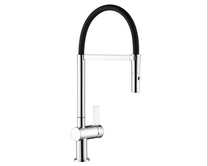 Lamona Black and Chrome Lanzo single lever tap
