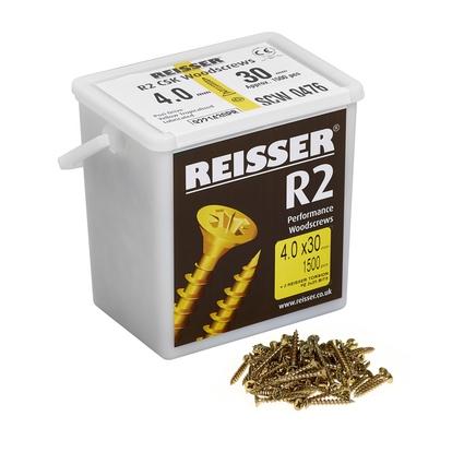 Reisser Yellow Passivated single thread screws - large tub