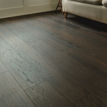 Professional V Groove Smoky Hickory Laminate Flooring | Howdens Joinery