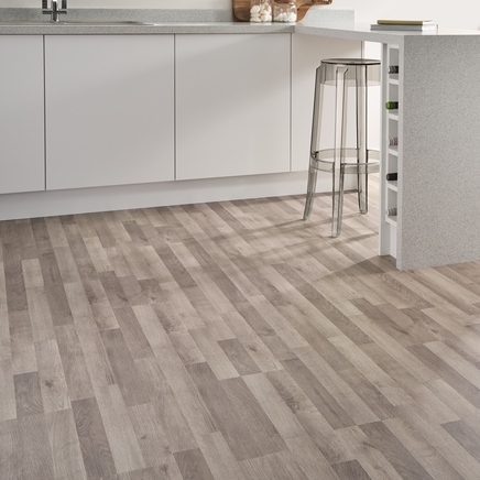 Grey Oak Laminate Flooring Strip | Howdens Joinery