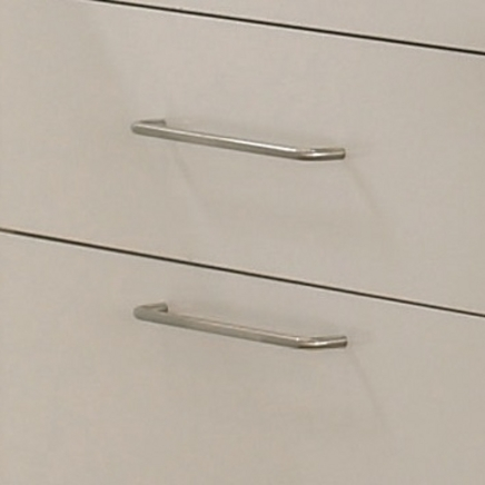 Brushed Steel Effect thin D handle