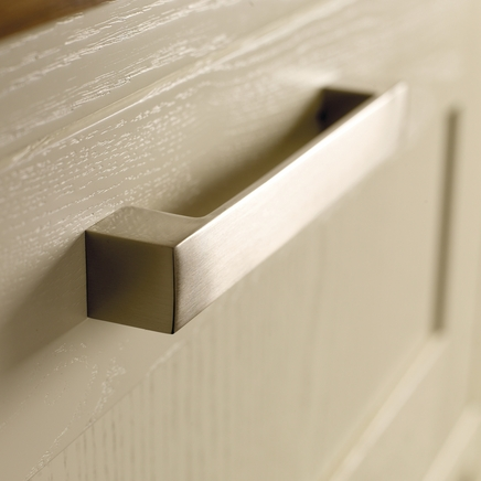 Brushed Steel Effect square D handle
