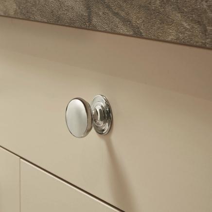 Chrome knob handle