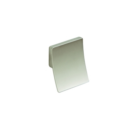 Brushed Steel Effect square pull knob handle