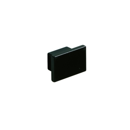 Black square knob handle
