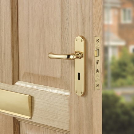Idro Brass lock door handle