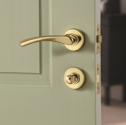 Garda Brass Rose Door Handle Howdens Joinery