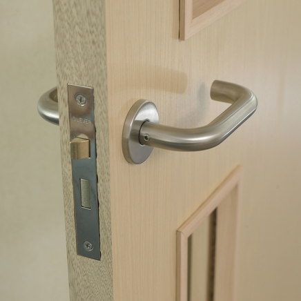 Stainless Steel Roundbar 19mm rose door handle