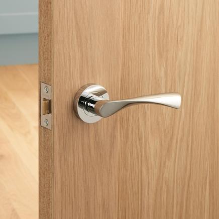 Sofia Chrome rose door handle