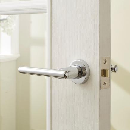 Riva Chrome Rose latch door handle