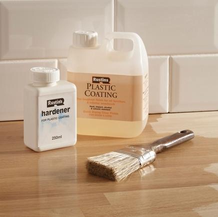 Plastic coating & hardener gloss