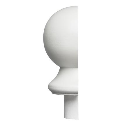 Primed half ball newel cap