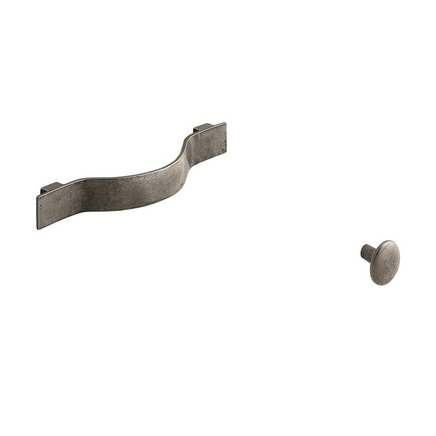 Solid Pewter curved decorative handles