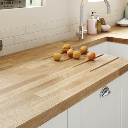 Oak Block Solid Wood Worktop 40mm Kitchen Worktops