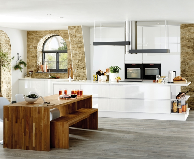 Bayswater Gloss White Kitchen Contemporary Kitchens